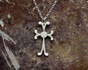 Silver Celtic Cross, Handmade By Douglas Hughes