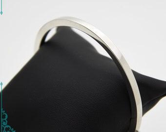 Square Wire Solid Silver Bangles - Handmade Douglas Hughes Design