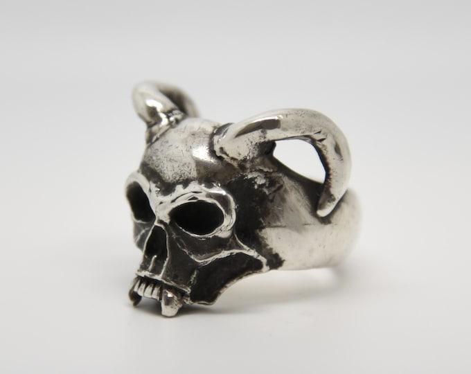 Handmade Silver Devil Ring, Douglas Hughes Design