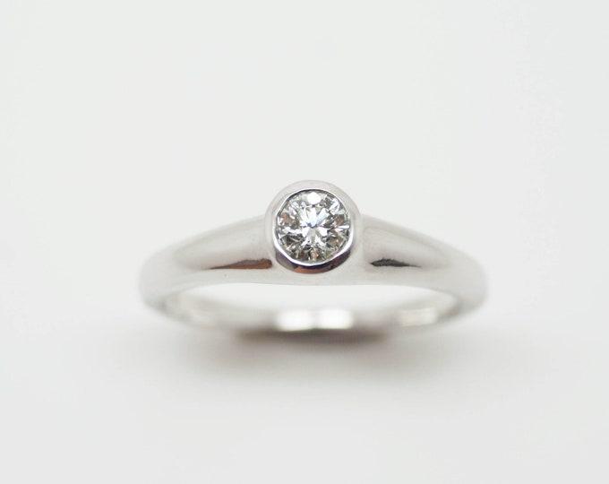 Diamond Silver Solitaire - Handmade Douglas Hughes Design