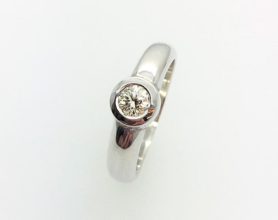 Diamond Ring - Handmade Silver Douglas Hughes Design