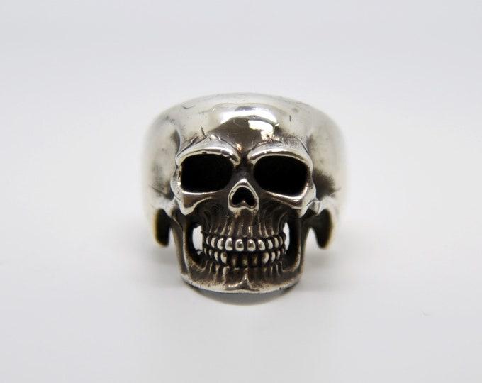 Silver Handmade Skull Ring, Douglas Hughes Design