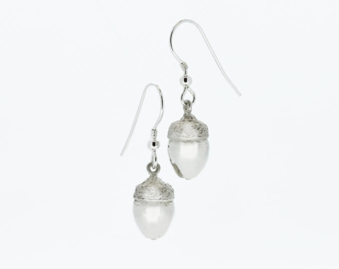 Acorn Earrings - Solid Silver - Handmade by Douglas Hughes