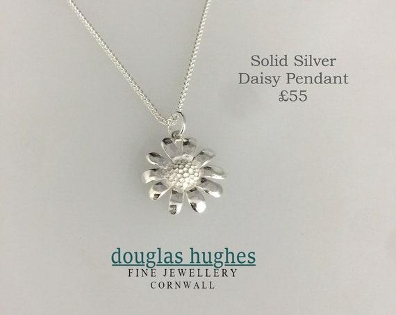 Silver Daisy Pendant - Douglas Hughes Design