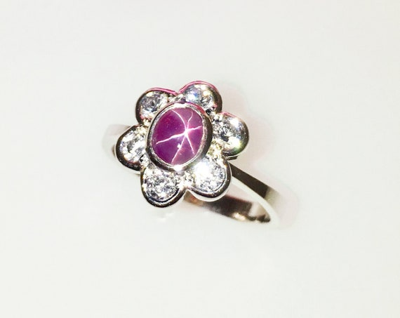 Pink Star Sapphire Ring - Handmade Douglas Hughes Design