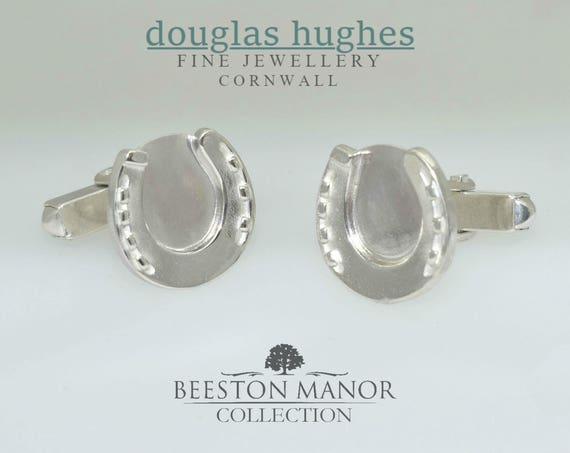 Horseshoe Cufflinks – Solid Silver - Handmade by Douglas Hughes