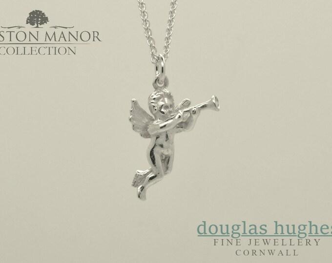 Cherub Pendant/Charm – Solid Silver - Handmade by Douglas Hughes