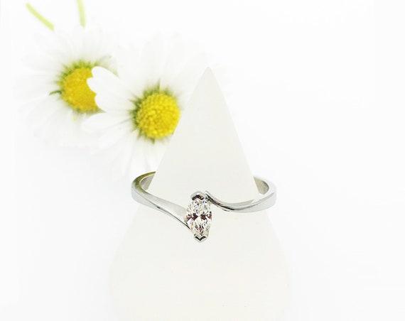 Marquise Diamond & Platinum  Ring