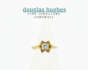 Diamond Ring - Handmade 18ct Yellow Gold Douglas Hughes Design