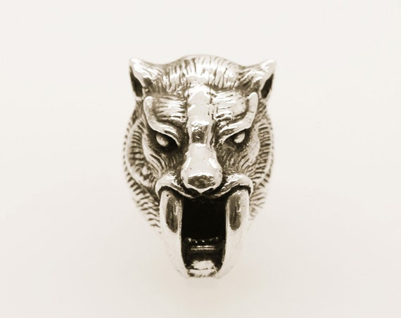 Sabre-Toothed Tiger Ring -  Handmade  Douglas Hughes Darkside Collection
