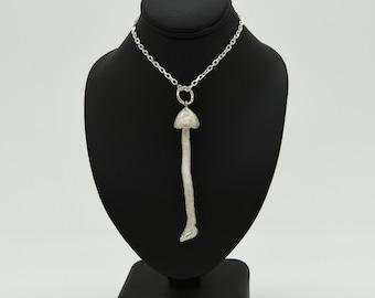 Handmade Silver Magic Mushroom Necklace, Douglas Hughes Design