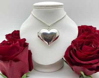 Solid Silver Heart Locket - Handmade Douglas Hughes Design
