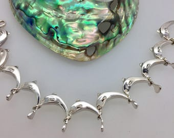Solid Silver Dolphin Bracelet - Handmade Douglas Hughes Design