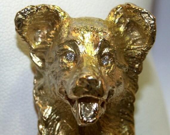 Dog Pendant - Brooch - Handmade Douglas Hughes Design