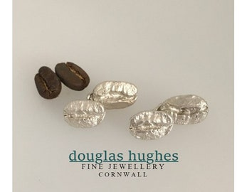 Coffee Bean Cufflinks! Douglas Hughes Design - Solid Silver