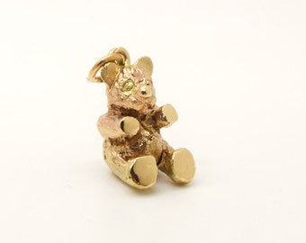 Solid Gold Handmade Teddy Bear