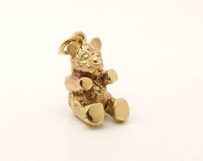Solid Gold Handmade Teddy Bear