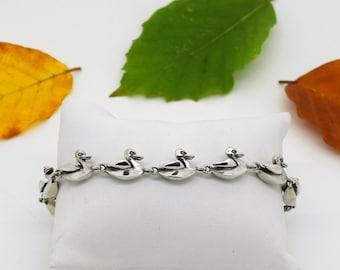 Silver Duck Bracelet, Handmade Unique Bracelet, Douglas Hughes Design