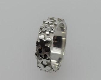 Silver Surfer Splat Ring - Handmade Douglas Hughes Design