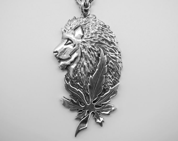 Lion of Judah Silver Pendant - Handmade Douglas Hughes Design