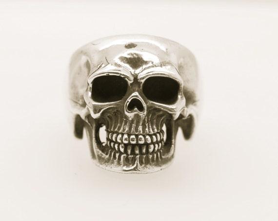 Skull Ring - Solid Silver - Handmade by Douglas Hughes