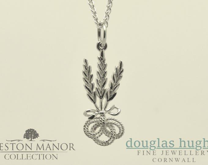 Corn Dolly Pendant/Charm – Solid Silver - Handmade by Douglas Hughes