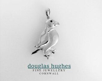 Puffin Pendant -  Solid Silver - Douglas Hughes Handmade Design