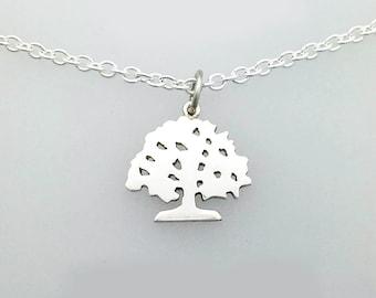 Silver Oak Tree Pendant/Charm, Handmade by Douglas Hughes