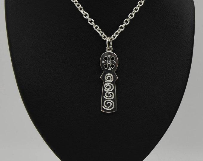 Handmade Silver Celtic Totem Cross, Douglas Hughes Design