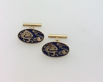 Cufflinks - Gold & Enamel - Handmade Douglas Hughes Design