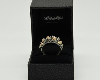 Handmade Silver and Rose Spike Ring, Douglas Hughes Design