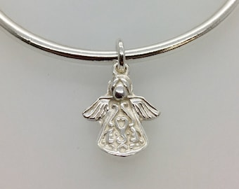Delightful Angel Charm - Solid Silver - Handmade by Douglas Hughes
