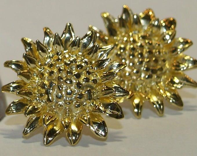 Sunflower Stud Earrings - Handmade Douglas Hughes Design