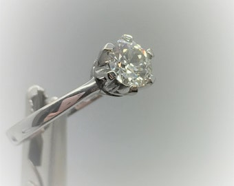 Diamond Ring - Handmade 18ct White Gold Douglas Hughes Design