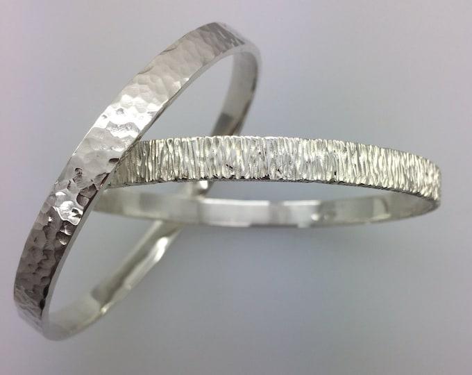 Silver Bangles - Handmade Douglas Hughes Designs