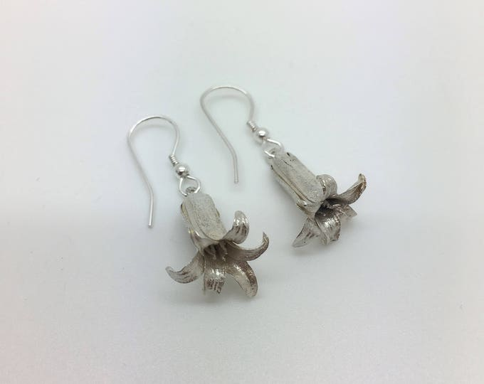 Bluebell Earrings – Solid Silver - Handmade by Douglas Hughes