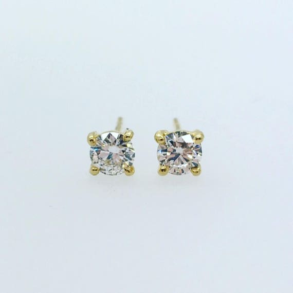 Diamond Stud Earrings - Beautiful Sparkling Stones! Handmade 18ct Douglas Hughes Mounts