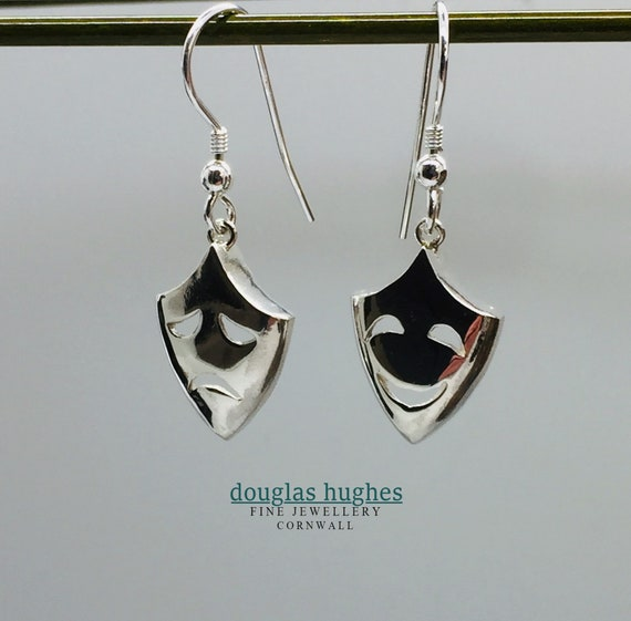 Theatre Mask Earring - Solid Silver - Douglas Hughes Design