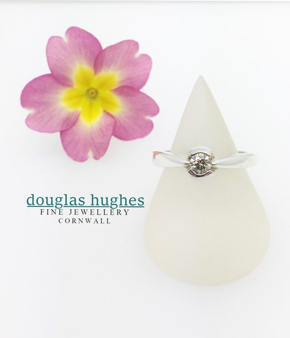 Diamond Set Ring - Handmade Silver Douglas Hughes Design