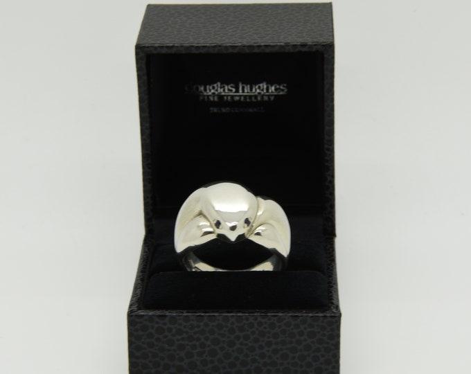 Handmade Silver and Blue Sapphire Snake Ring, Douglas Hughes Design