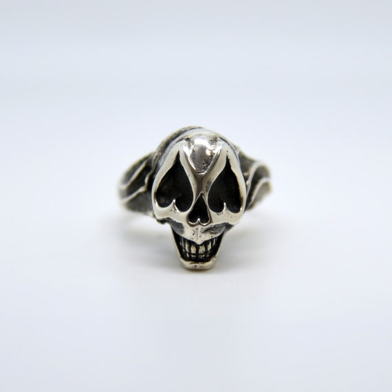 Sugar Skull Ring, Silver Skull Ring, Sugar Skull Jewelry, Skull Jewelry, Sugar Skull Jewellery, Skull Ring Silver, Hand Carved Ring