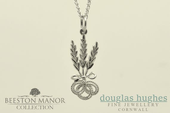 Corn Dolly Pendant/Charm – Solid Silver - Handmade by Douglas Hughes