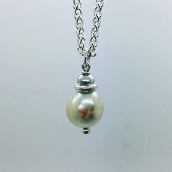 Pearl & Silver Pendant - Handmade Douglas Hughes Design