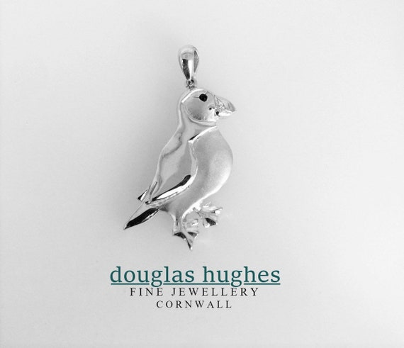 Puffin Pendant - Douglas Hughes Handmade Design in Solid Silver