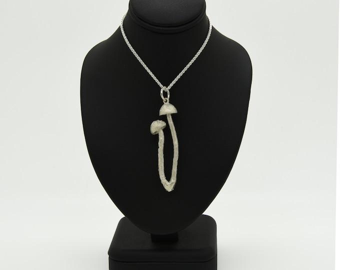 Handmade Silver Magic Mushroom Duo Necklace, Douglas Hughes Design