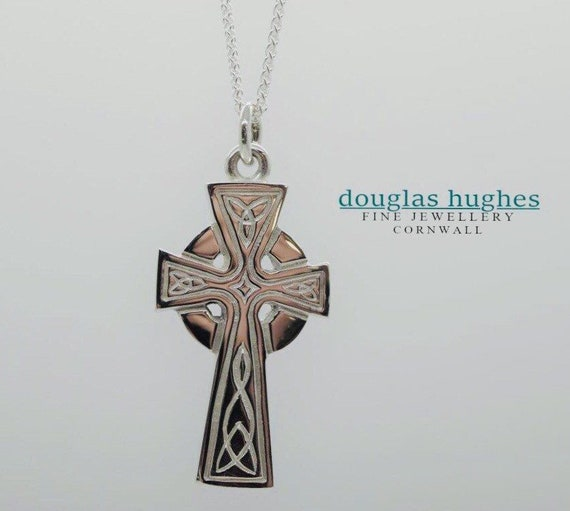Cornish Celtic Cross - Douglas Hughes Design - Handmade in Cornwall