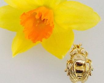 18ct Gold Cornish Bee Ring - Handmade Douglas Hughes Design