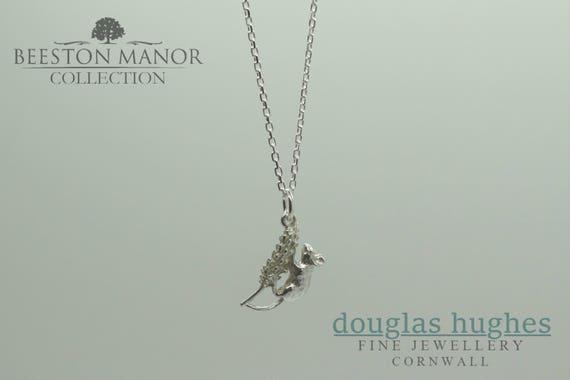 Harvest Mouse Pendant/Charm – Silver Pendant - Handmade by Douglas Hughes