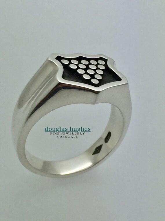 Silver Cornish Bezant Ring - Handmade - Douglas Hughes Design