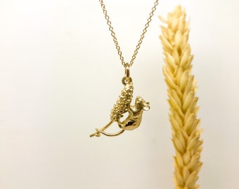 Solid 9ct Yellow Gold Harvest Mouse Pendant: Gold Mouse, Gold Mouse Necklace, Mouse Design, Harvest Mouse, Mouse Jewellery, Mouse Design